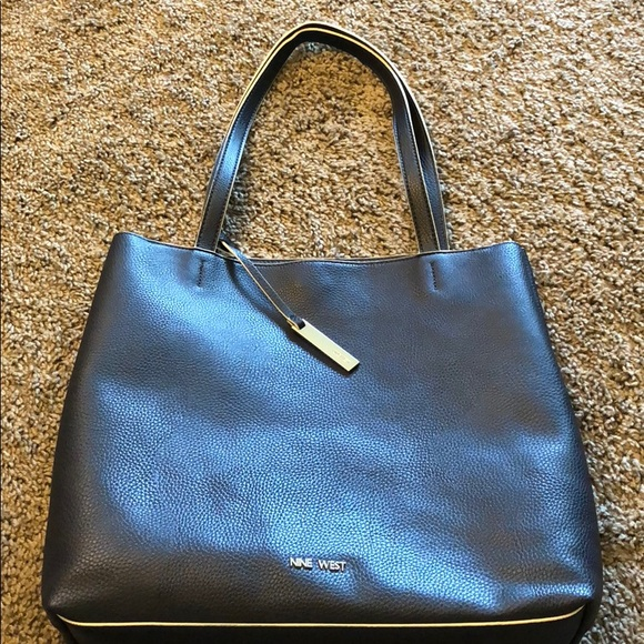 Women s nine west tote bag navy blue fd5403756e